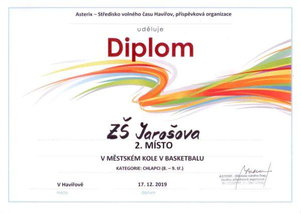 Diplom 2. místo