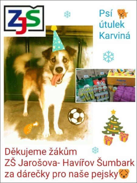 Poděkování psího útulku v Karviné