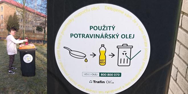 Sběr použitého oleje na ZŠ Jarošova
